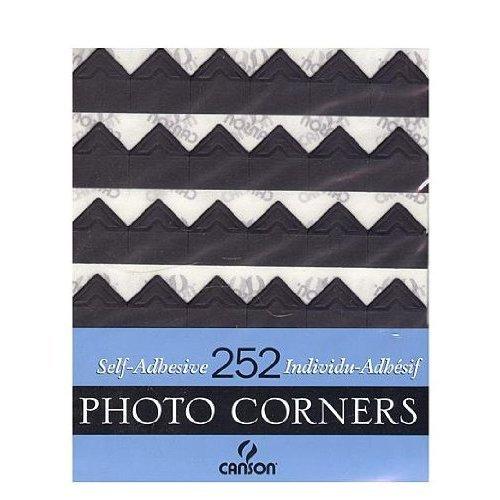 Canson Self-Adhesive Photo Corners Black (Pack Of 252) FBA_541-2287