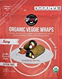 Organic Veggie Wraps - Mini Spicy Wraps by Wrawp / Perfect For Wraps, Sandwiches, Crackers or a Simple Snack