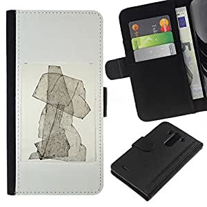 ZCell / LG G3 / Puppy Abstract Watercolor Poster / Caso Shell Armor Funda Case Cover Wallet / Cachorro abstracto acuarela Póster