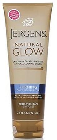 Jergens Natural Glow Daily Moisturizer Firming Medium Tan Skin Tones 7.50 oz Pack of 3