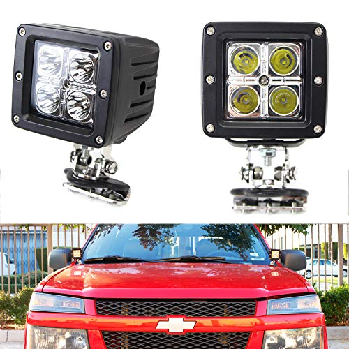 (iJDMTOY A-Pillar LED Pod Light Kit For Truck SUV 4x4 ATV, Includes (2) 20W High Power CREE LED Cubes, Windshield A-Pillar Mounting Brackets & On/Off Switch Wiring Kit)