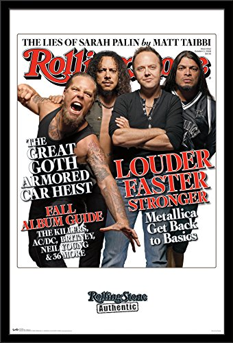 "Trends International Rolling Stone Magazine - Metallica Wall Poster, 22.375"" x 34"", Black Framed Version"