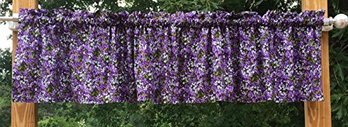Purple Lilac Floral All Over Flower Garden of Flowers Handcrafted Valance w2/31