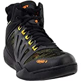 AND 1 Men's Overdrive Basketball Shoe, Black/Iridescent Yellow/Marigold, 13 M US