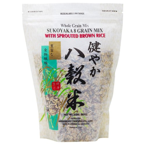 (Nishimoto Trading Co., Sukoyaka 8 Grain Mix with Sprouted Brown Rice, 2 lb)