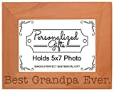 ThisWear Birthday Gift Grandpa Best Grandpa Ever Natural Wood Engraved 5×7 Landscape Picture Frame Wood Review