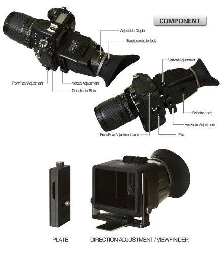 Deep-deal Swivi - Visor universal LCD para cámaras réflex ...
