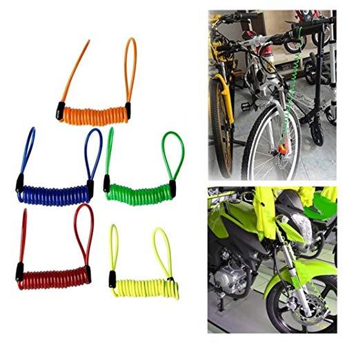 Naranja Universal port/átil 1.2M Alambre Cerradura de Bicicleta Recordatorio de Primavera Cuerda de Bloqueo antirrobo para Motocicletas Bicicletas Scooters Cord/ón de Seguridad