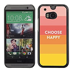 Paccase / SLIM PC / Aliminium Casa Carcasa Funda Case Cover para - Choice Happy Quote Positive Life Motivation - HTC One M8