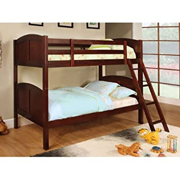 Amazon.com: Rexford Solid Wood Duo Twin Size Bunk Bed: Kitchen ...