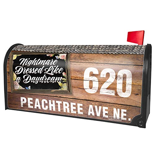 NEONBLOND Custom Mailbox Cover Floral Border Nightmare Dressed Like a Daydream ()