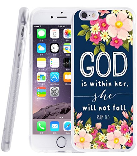 Iphone 6S case christian quotes, Apple Iphone 6 Cover bible theme designer TPU Protector