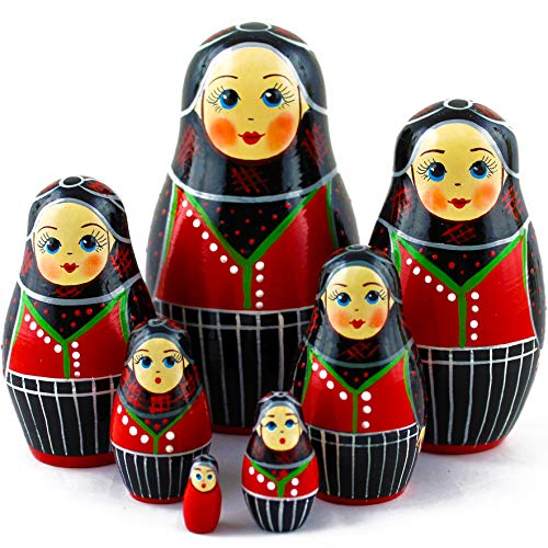 Wooden Nesting Dolls - Matryoshka Dolls Danish