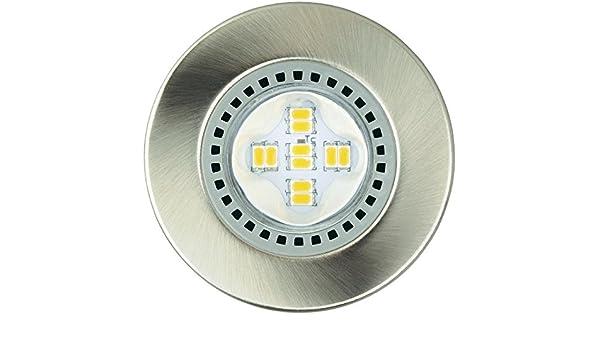 Lámpara LED de jedi Optima FW50 Brushed Nickle 345 lm 3 P: Amazon.es: Iluminación