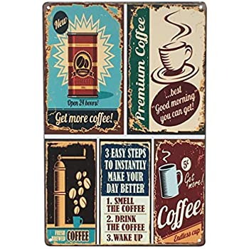 Amazon Com Throwback Traits Coffee Sign And Decor Multi Color Shop