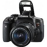 Canon EOS Rebel T6i DSLR Camera with EF-S 18-55mm f/3.5-5.6 IS STM Lens - International Version (No warranty),Black