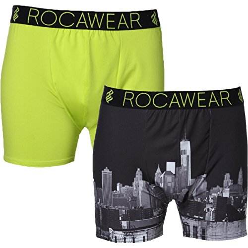 Rocawear Mens 2 Pack Moisture Wicking Boxer Briefs Black XL