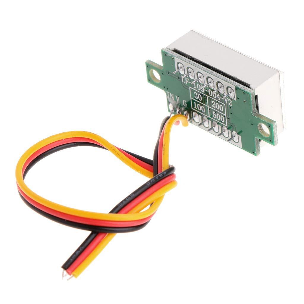 Mentin 0.36DC 0-100V 3 bits 3 fils Num/érique Voltm/ètre LED Affichage Tension M/ètre Rouge