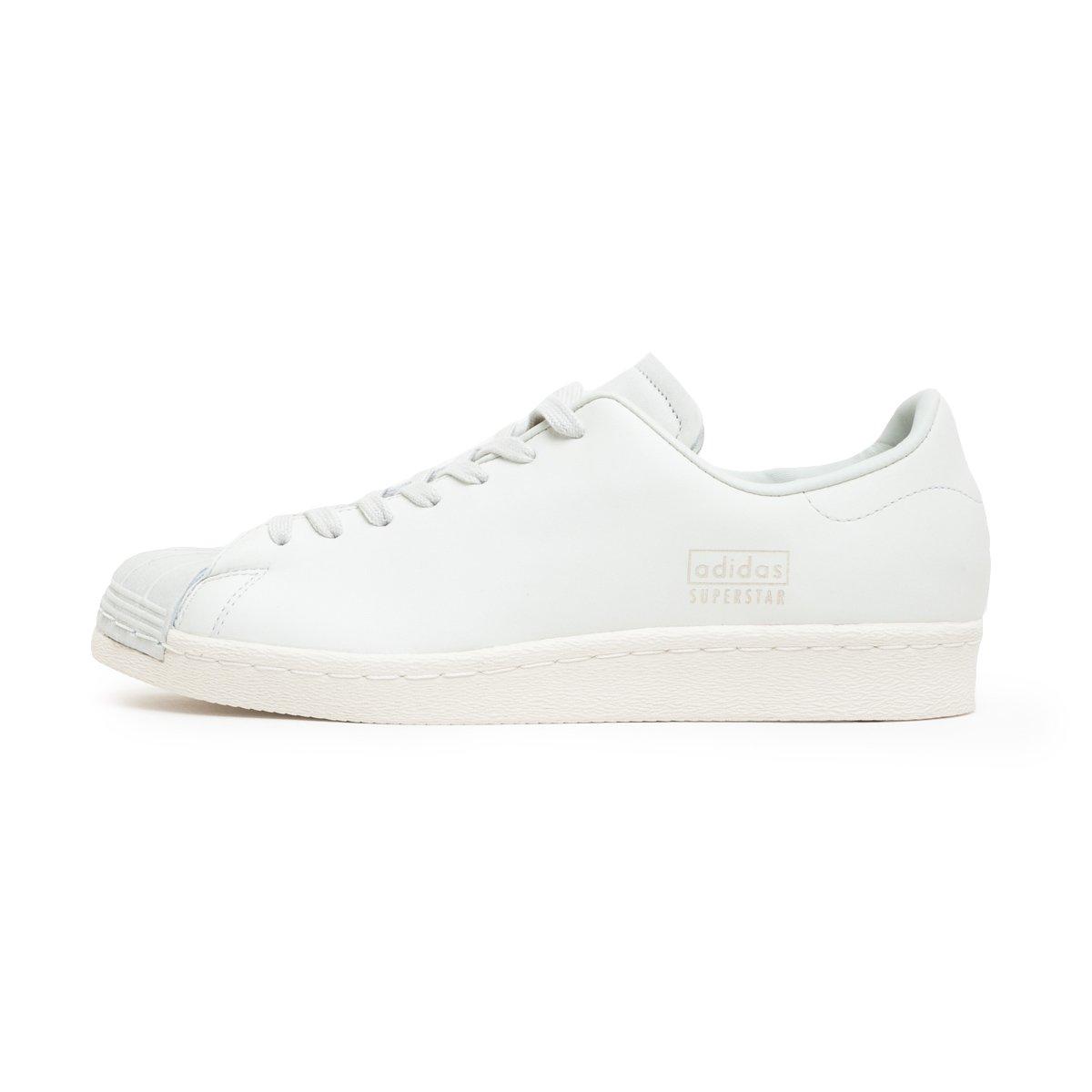 adidas Originals Superstar 80s Clean, Crystal White-Crystal White-Off White 4.5 UK|crystal white-crystal white-off white