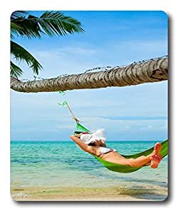gel mouse mat Beach Girls PC Custom Mouse Pads / Mouse Mats Case Cover