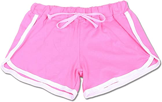 DKXLW Pantalones Cortos De Mujer,Rosa Verano Niñas Causal Shorts ...