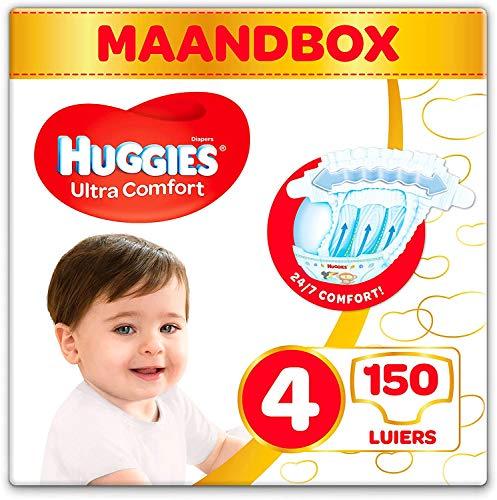 Huggies Luiers – Maat 4 (7 tot 18 kg) – 150 stuks – Voordeelverpakking