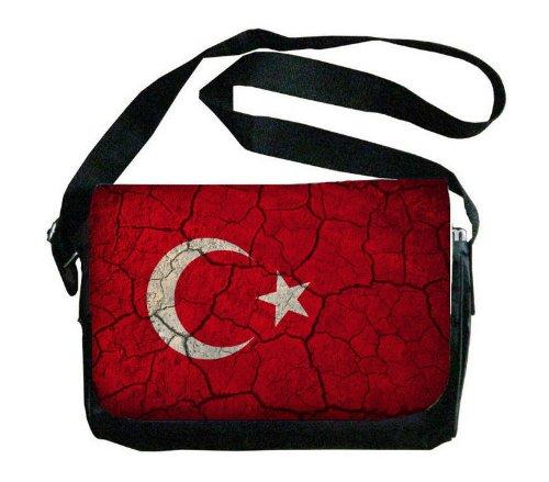 Turkey Flag Crackledデザインメッセンジャーバッグ   B00FMFO6Z8