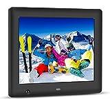 Apzka 8-Inch HD Digital Photo Frame with Motion Sensor, MP3 Photo Video & Music Playback, Calendar with 2GB Internal Memory & Remote Control (Black),