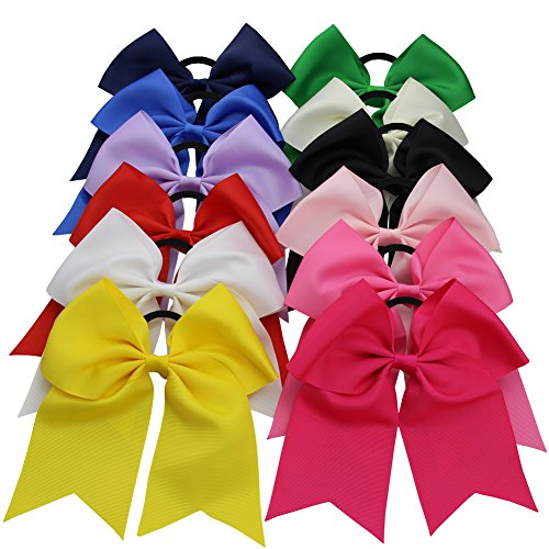 qtgirl-big-cheer-hair-bows-12-pieces-7-mix-colors-with-pony-tail-holder-for-girls