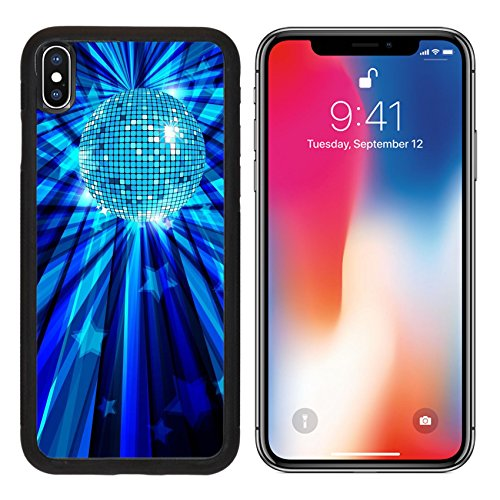 MSD Premium Apple iPhone X Aluminum Backplate Bumper Snap Case Disco Ball background with rays and stars eps10 IMAGE 10697195