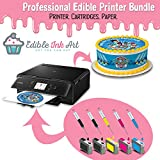 Edible Printer Bundle Comes with INKUTEN Refillable Edible Ink Cartridges and 24 Frosting Sheets - Edible Printer for cakes By EdibleInkArt