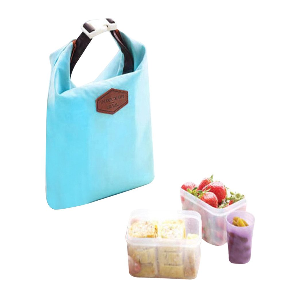 KFSO Lunch Bag Clearance Sale! Waterproof Thermal Cooler Insulated Tin Foil Lunch Box Portable Tote Storage Picnic Bags (Blue) by KFSO Lunch Bag (Image #1)