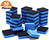 30 Pack Magnetic Whiteboard Eraser for School Classroom, Office, Home - Buytra Dry Erase Erasers Cleaner for Dry-erase White Board, 1.97 x 1.97'', Square Shape (Blue)