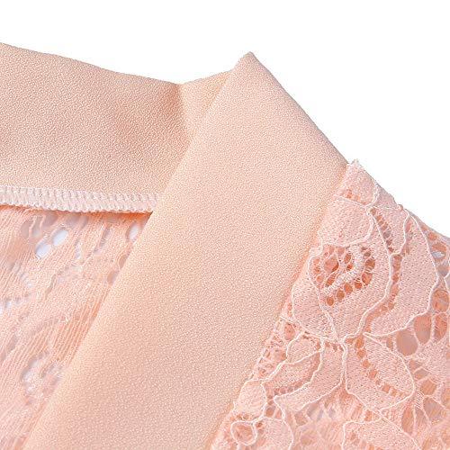 Arancia Eleganti Risvolto Donna Pizzo Casual Donna Primavera Da Floreale Donna✿giacche Anteriore In Cardigan Coprispalle Con Bcfuda Aperto PawtqF4x0