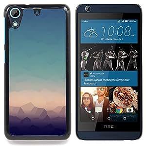 "Qstar Arte & diseño plástico duro Fundas Cover Cubre Hard Case Cover para HTC Desire 626 (Geometría Cielo"")"