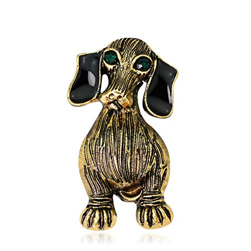 ExhilaraZ Brooches Vintage Unisex Dog Brooch Pin Party Jewelry Mini Scarf Shirt Suit Bag Gifts from ExhilaraZ