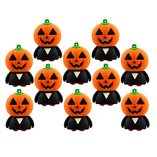 (A Plus+ Pumpkin USB 3.0 Flash Drive 32GB USB 3.0 Stick Pen Drive (Pack of 10))