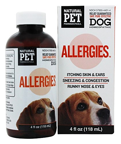 Natural Pet Pharmaceuticals by King Bio Allergies for Dog, 4-Ounce