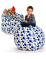 Creative QT Stuffed Animal Storage Bean Bag Chair - Standard Stuff 'N Sit Organization for Kids Toy Storage-Available in A Variety of Sizes and Colors