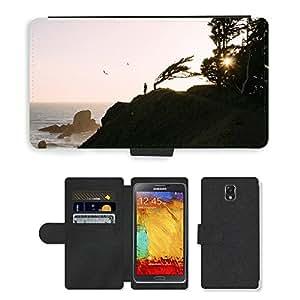 CARD POCKET BOOK CASE PU LEATHER CASE // M00421649 Mañana Shore Costa Mar Océano // Samsung Galaxy Note 3 III N9000 N9002 N9005