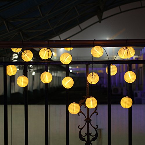 Innoo tech lantern solar string lights outdoor globe lights 144ft home rv patio lighting string lights aloadofball Gallery