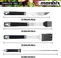 Amazon.com: Monbix - Parrilla para barbacoa: Jardín y Exteriores