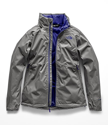 The North Face Women's Resolve Plus Jacket Mid Grey Dobby/Deep Blue Small