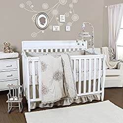 Charlotte 4 Piece Baby Crib Bedding Set with Bumper by The Peanut Shell