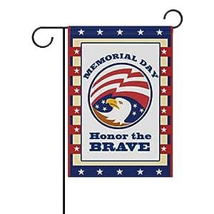 ColourLife Honor The Brave - Bandera de poliéster para jardín, diseño de temporada, 30,5 x 45,7 cm, para decoración de interiores, interiores y exteriores