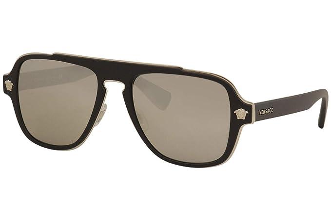Versace 0VE2199 Gafas de sol, Matte Black, 55 para Hombre ...