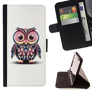 - Cute Colorful Big Eye Owl/ Personalizada del estilo del dise???¡¯???¡Ào de la PU Caso de encargo del cuero del tir???¡¯????n del s - Cao - For Samsung G