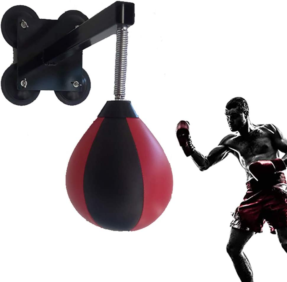 Inflatable Punching Ball PU Leather Boxing Bag Gym MMA Reflex Speed Training