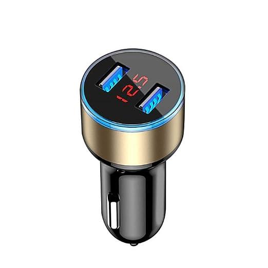 XC 3.1A Cargador de Coche Dual USB con Pantalla LED Cargador de ...