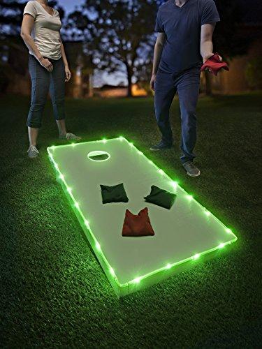 Brightz TossBrightz Cornhole/Bean Bag Game LED Lighting Kit (Lights Only, No Boards), Green